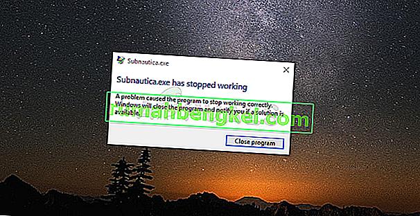 Как да коригираме сривове на Subnautica