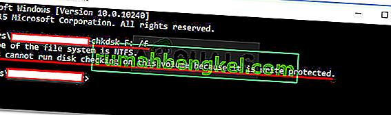 Поправка: Windows не може да стартира проверка на диска на този том, тъй като е защитен от запис