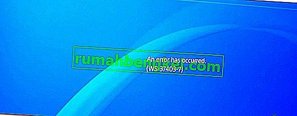 ¿Cómo solucionar el código de error & lsquo; WS-37403-7 & rsquo; en PlayStation 4?