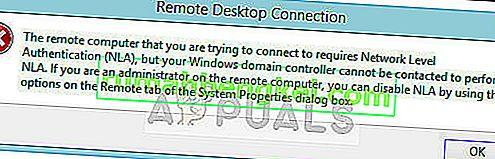 Solución: la computadora remota requiere autenticación a nivel de red