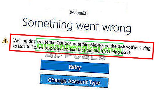 Solución: no pudimos crear el archivo de datos de Outlook