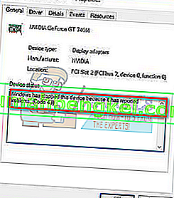 修正:NVIDIA Code 43(問題が報告されたため、Windowsはこのデバイスを停止しました)
