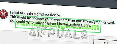 Поправка: Неуспешно създаване на графично устройство