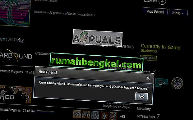 תיקון: שגיאה בהוספת חבר ל- Steam