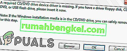תיקון: & lsquo; מנהל התקן כונן CD / DVD נדרש חסר & rsquo; הודעת שגיאה בעת התקנת Windows 7 מ- USB