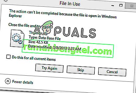 תיקון: לא ניתן להשלים את הפעולה מכיוון שהקובץ פתוח בסייר Windows