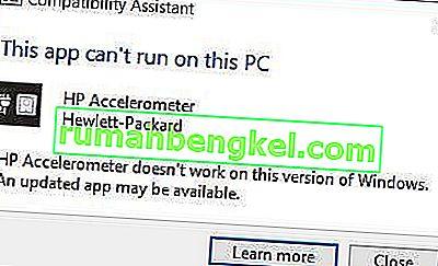 Поправка: Акселерометърът на HP не работи върху тази версия на Windows