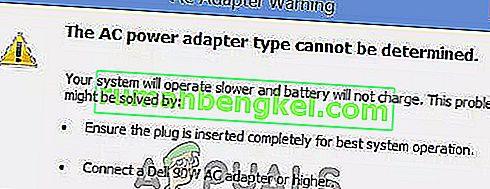 修正:AC電源アダプターのタイプを判別できません