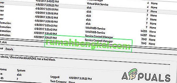 修正:デバイス Device  Harddisk0  DR0に不良ブロックがあります