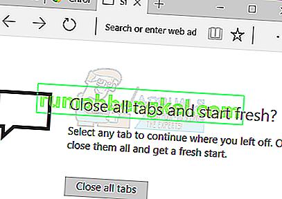 Poprawka: Microsoft Edge otwiera się, a potem zamyka