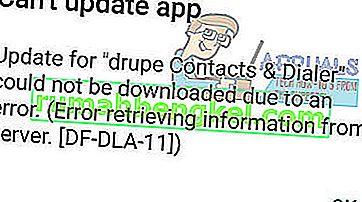 ROZWIĄZANY: Błąd Google Play DF-DLA-15