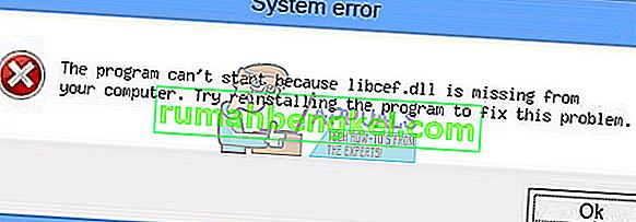 الإصلاح: libcef.dll مفقود من جهاز الكمبيوتر الخاص بك