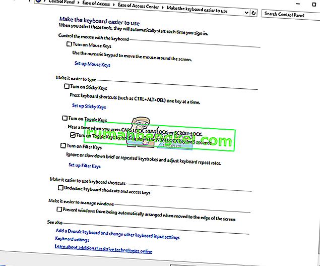 修正:バックスペース、スペースバー、Enterキーが機能しない