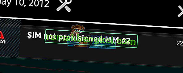 修正:SIMがプロビジョニングされていないMM2