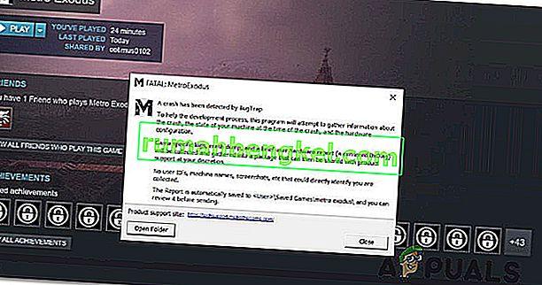 修正方法'致命的:Metro Exodus' Windowsのエラー?