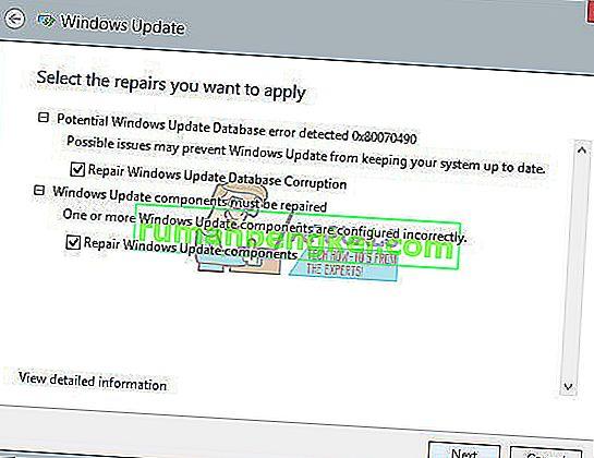 修正:潜在的なWindows Updateデータベースエラーが検出されました