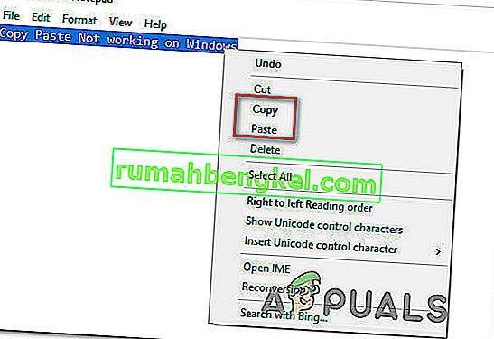 Поправка: Поста за копиране не работи на Windows 7, 8.1, 10