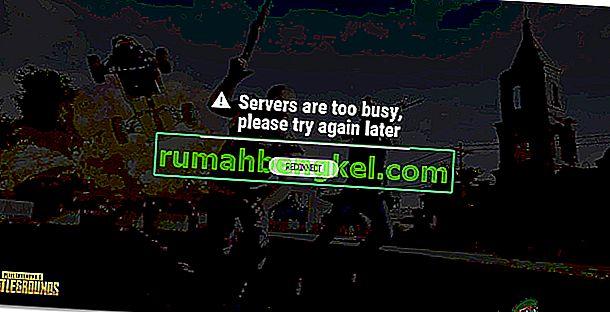 Как исправить ошибку & lsquo; Серверы слишком заняты & rsquo; Ошибка в PUBG?