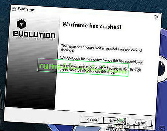Как да поправим срива на Warframe