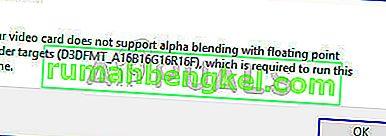 Поправка: Вашата видеокарта не поддържа алфа смесване