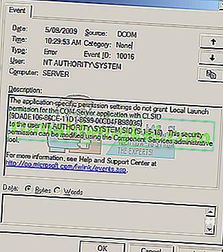 Как да коригирам грешка DCOM 10016 на Windows 7, 8 и 10