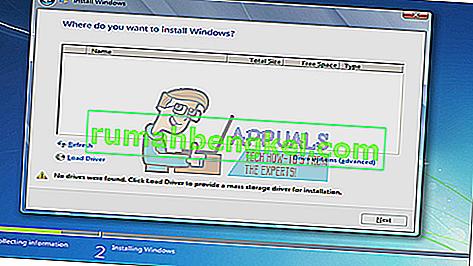 수정 : Windows 7 설치 프로그램에서 하드 드라이브를 찾을 수 없음
