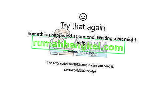 Poprawka: Kod błędu Sklepu Windows 0x80131500