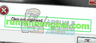 Решение: Класът на грешка Explorer.exe не е регистриран