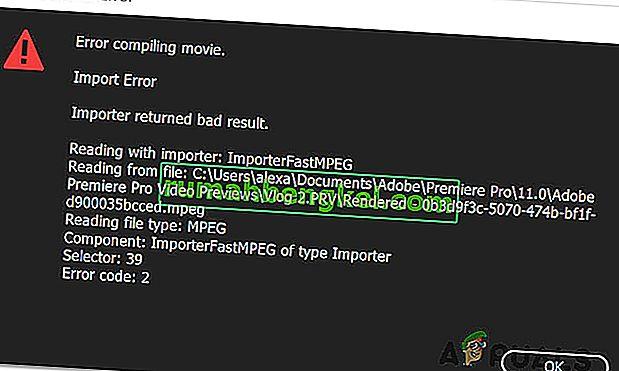 Como corrigir & lsquo; Erro ao compilar filme & rsquo; no Premiere Pro