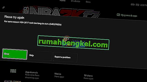 Poprawka: kod błędu Xbox 0x8027025A