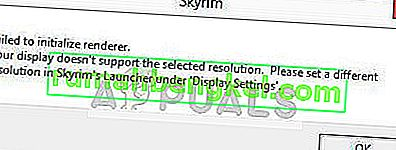 Solución: Skyrim no pudo inicializar el renderizador