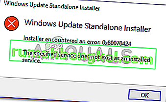 Poprawka: błąd Windows Update 0x80070424