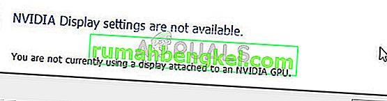 Поправка: Настройките на дисплея на NVIDIA не са налични