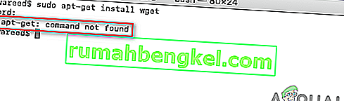 Cómo corregir & lsquo; sudo apt-get command not found & rsquo; en macOS