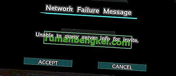 Коригиране: ARK не може да поиска информация за сървъра за покана