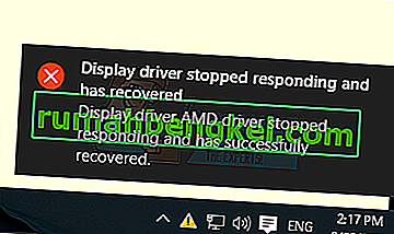 Поправка: Шофьорът на дисплея спря да реагира и се възстанови