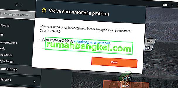 Как да коригирам грешка в произхода 327683: 0