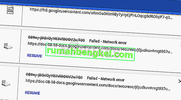 Cómo reparar & lsquo; Falló - Error de red & rsquo; Al descargar en Google Chrome
