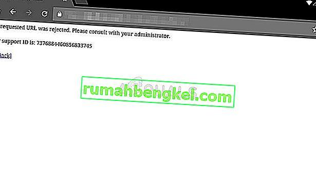 Как да коригирам & lsquo; Исканият URL адрес е отхвърлен. Моля, консултирайте се с вашия администратор & rsquo; Грешка в Windows?