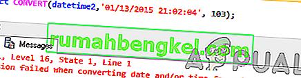 Как да коригирам неуспешно преобразуване при преобразуване на дата и / или час от символен низ & rsquo; Грешка?