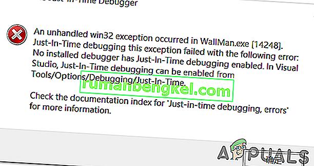 & lsquo; 응용 프로그램에서 처리되지 않은 예외가 발생했습니다 & rsquo; Windows에 오류가 있습니까?