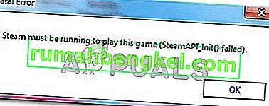 Solución: Steam debe estar funcionando para jugar a este juego