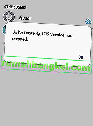 Коригиране: За съжаление услугата IMS спря на Android