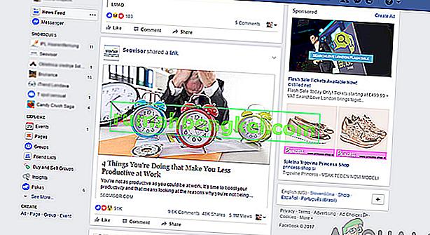 Como corrigir o feed de notícias do Facebook que não funciona