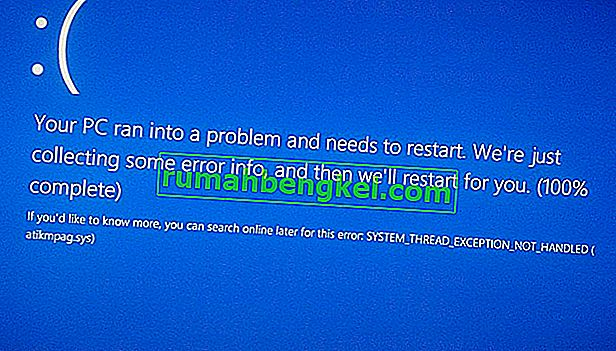 Correção: erro BSOD atikmdag.sys no Windows 10
