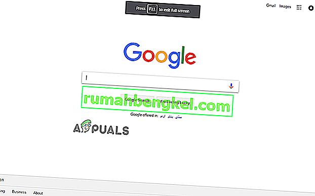 Cómo entrar y salir del modo de pantalla completa en Google Chrome