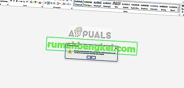 Solución: Word no puede completar el guardado debido a un error de permiso de archivo