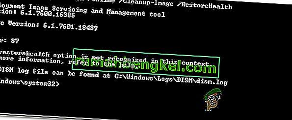 إصلاح: خطأ DISM 87 على نظام التشغيل Windows 10