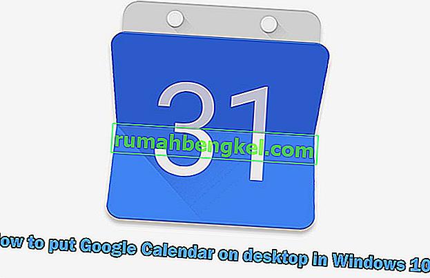 Как да поставите Google Календар на работния плот в Windows 10?
