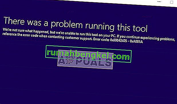 Poprawka: Błąd narzędzia do tworzenia multimediów 0x80042405-0xa001a